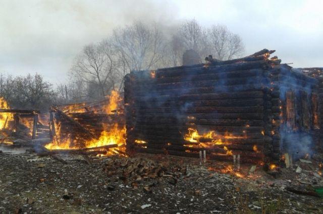 Впламени погибли двое человек— Пожар вНовосергиевке