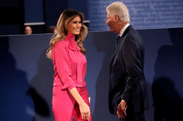 Меланья Трамп и Билл Клинтон.