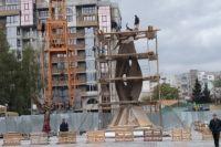 На месте установки памятника