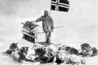 Амундсен на Южном полюсе.