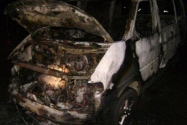 ВПензенской области сгорел микроавтобус
