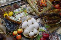 Продукция отечественного агропромышленного комплекса на выставке «Золотая осень» на ВДНХ.