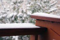 Первый настоящий снег в Красноярске.