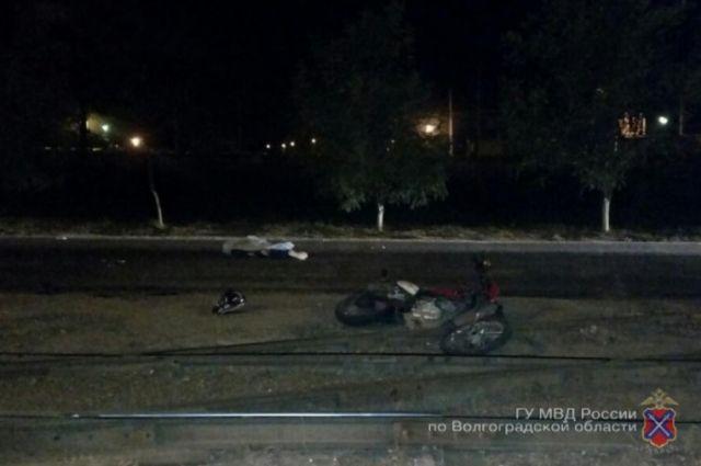 Наюге Волгограда в трагедии умер пассажир мотоцикла