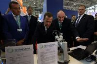 На выставке «Золотая осень - 2016», которая принесла делегации области гран-при, инновациями аграриев заинтересовался Дмитрий Медведев.