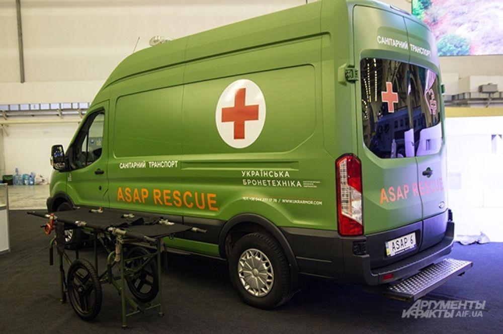 Вот новенький санитарный транспорт от «Украинской бронетехники»