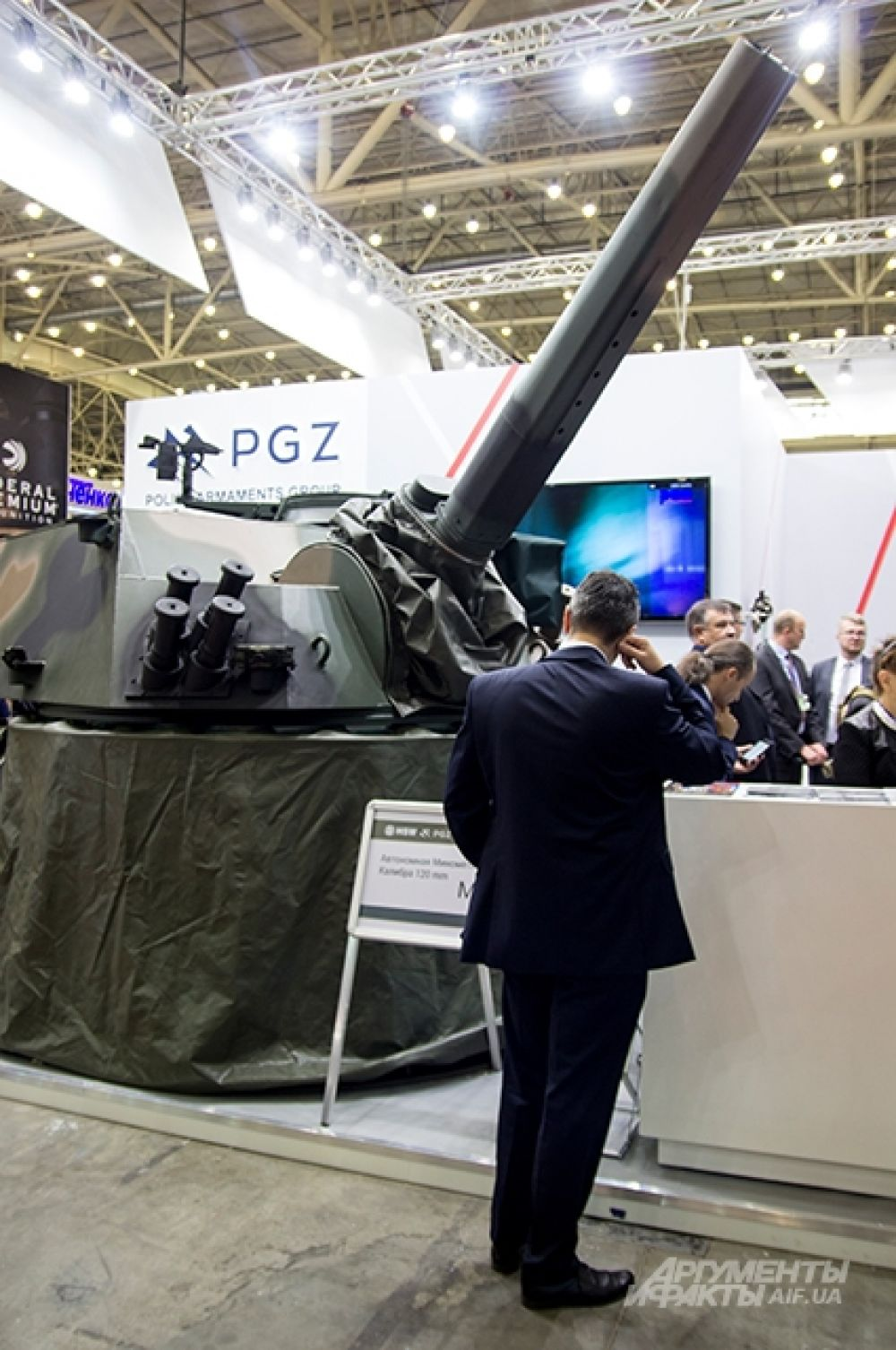 Одной из главных польских новинок была Автономная минометная башня М120 с калибром 120 мм.