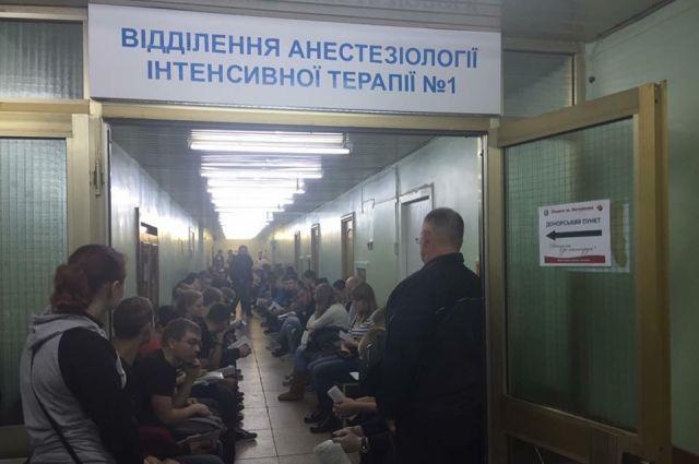 Граждане Днепра задень отдали солдатам АТО 150 литров крови