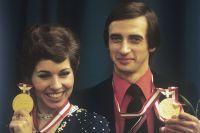 Людмила Пахомова и Александр Горшков - победители XII Олимпийских игр в танцах на льду, 1976 г.