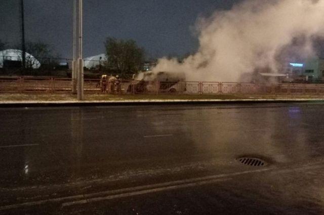 Пожарные потушили возгорание за 10 минут.