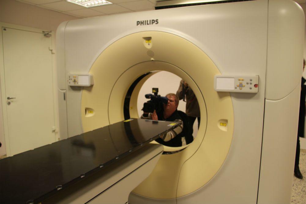 Аппарат МРТ для диагностики.