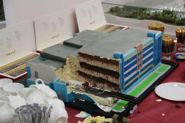 Торт по случаю начала.