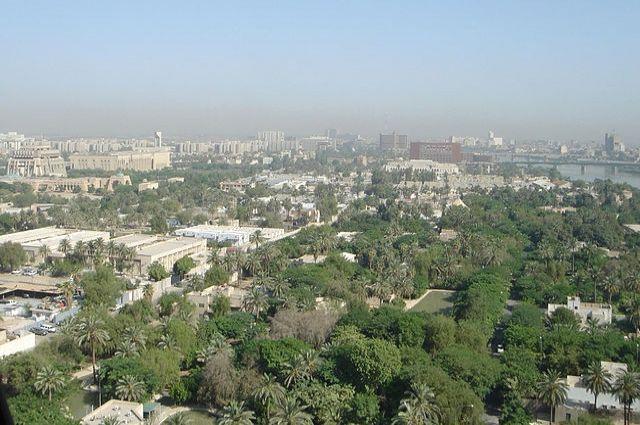 Узеленой зоны вБагдаде прогремел мощнейший взрыв