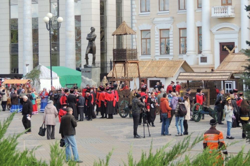 Сторожевая вышка - непременный атрибут традиционной казачьей станицы.