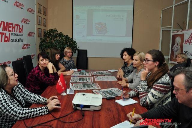 Гости «АиФ в Омске» с интересом слушали врача-кардиолога.