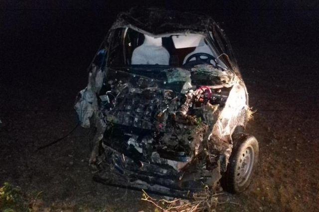 Парень начужой машине перевернулся вАрзгирском районе Ставрополья