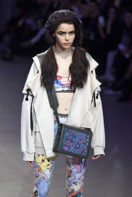 Этот наряд был представлен Софией Русинович, которая представляла бренд ROUSSIN с весенне-летней коллекцией 2017