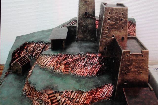 Башенный комплекс в Ингушетии, созданные из металла.