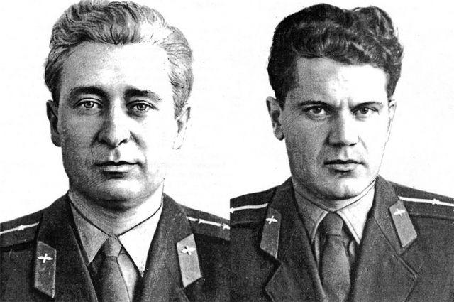 Борис Капустин (на репродукции слева) и Юрий Янов погибли, уводя самолёт от жилых кварталов Берлина.