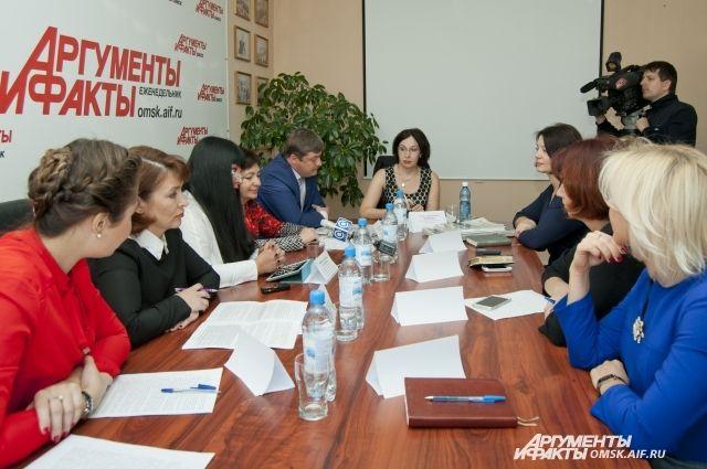 Круглый стол в рамках федерального проекта прошёл в пресс-центре «АиФ в Омске».