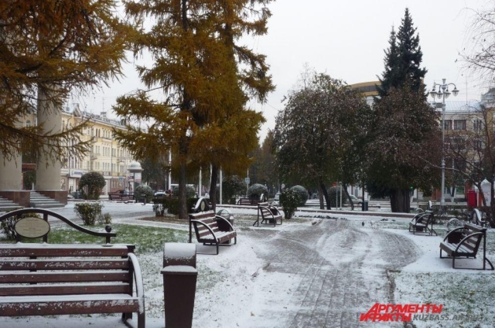 И вот Кемерово чудесным образом приобретает зимнее величие.