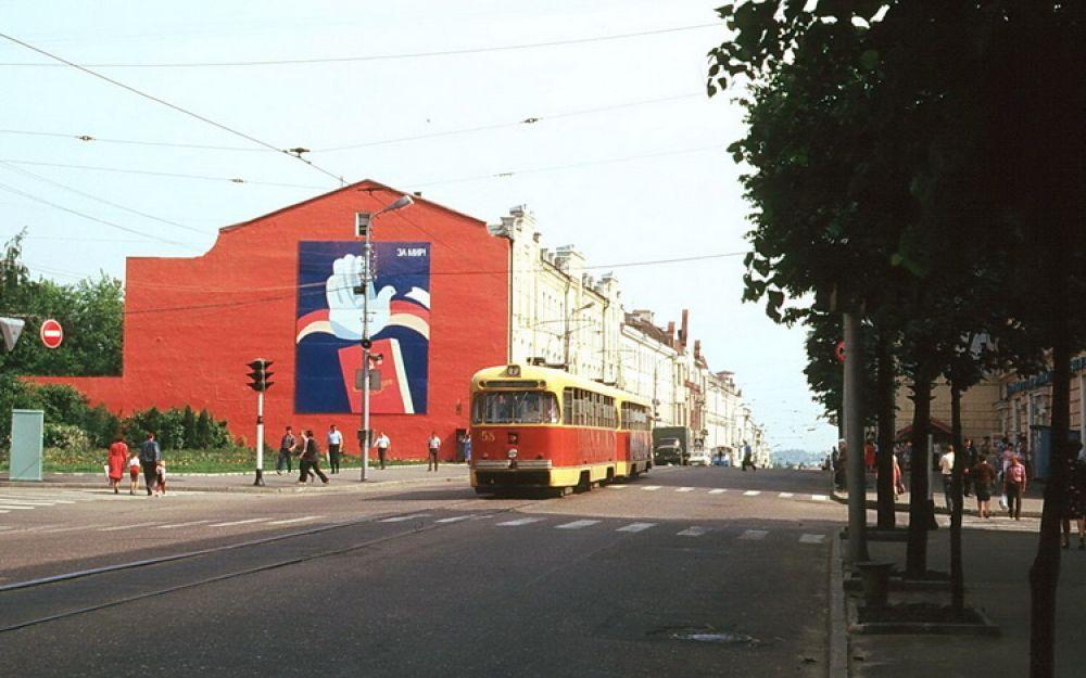 Фотоснимок смоленского трамвая из 80-х годов, сделанный туристом из ГДР.