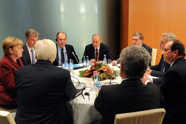 Встреча лидеров стран «нормандской четверки» в Берлине.