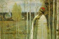Царевич Дмитрий. Картина М. В. Нестерова, 1899 год.