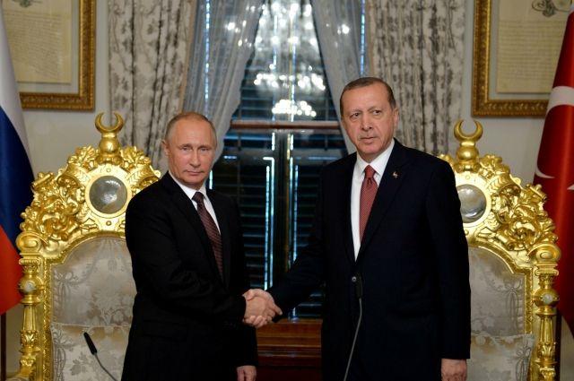 Песков рассказал обизменениях вотношениях В.Путина иЭрдогана