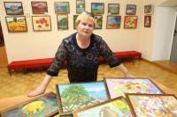 У Екатерины Заяц была уже даже персональная выставка в Троицком краеведческом музее.