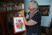 И крестиком, и гладью. Антонина Тропина вышивает прекрасные картины.