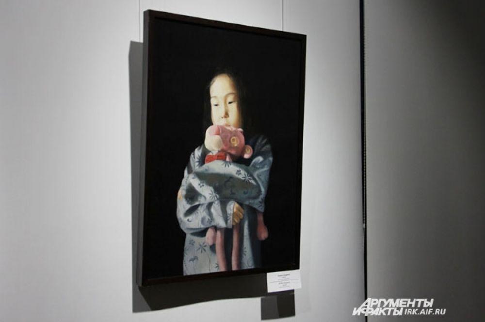 """Одна из самых завораживающих картин выставки называется """"Подарок"""". Главную героиню Зорикто списывал со своей дочки Яны."""