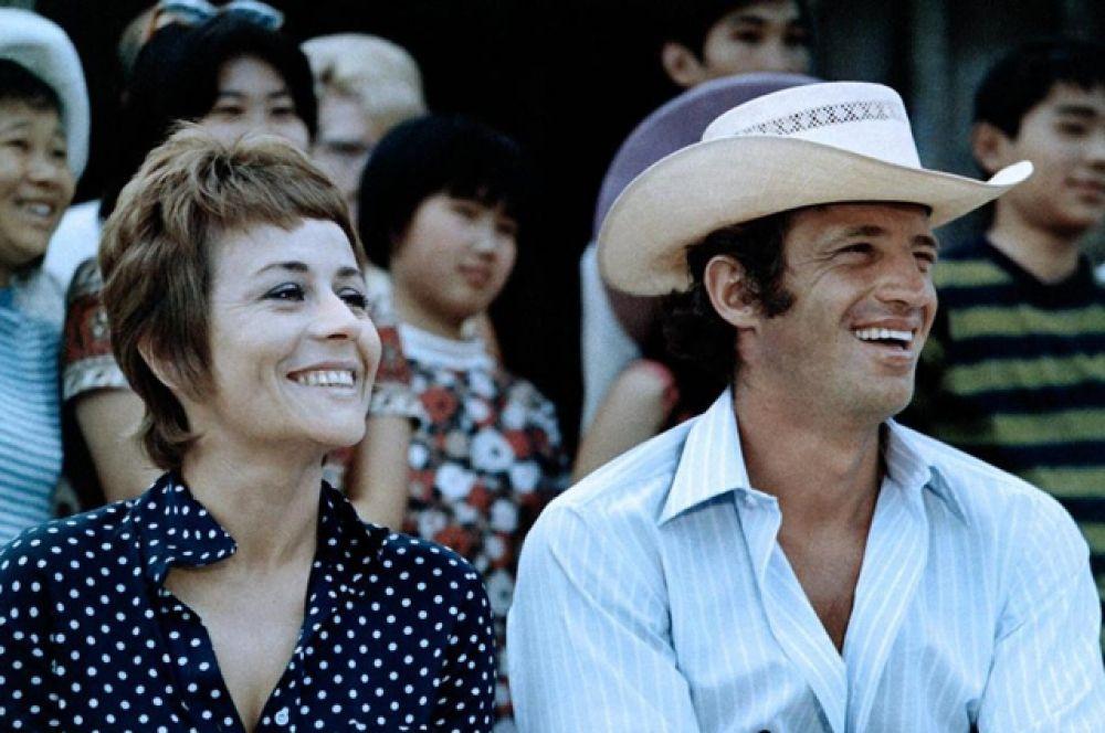 С Жаном Полем Бельмондо в фильме «Мужчина, который мне нравится» (1969).