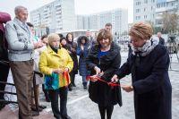Татьяна Вижевитова (на фото справа) и директор частного пансионата Валентина Леванович открывают филиал.