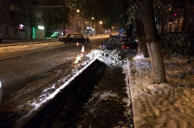 ДТП случилось засутки вПятигорске из-за сильного снегопада