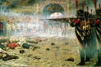 Картины Верещагина производили на зрителя порой чудовищное впечатление, пугая и заставляя задуматься. Картина «В покоренной Москве» («Поджигатели» или «Расстрел в Кремле»).