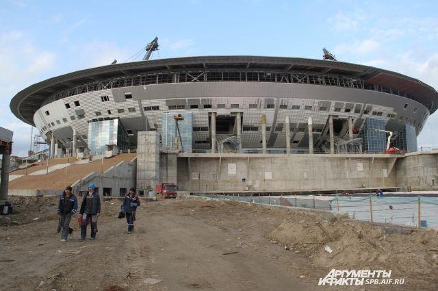 Впервом матче на«Зенит-Арене» сыграют команды генподрядчика истроителей стадиона