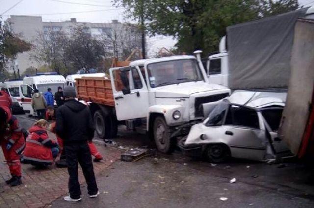 ДТП сучастием четырех авто случилось вВиннице