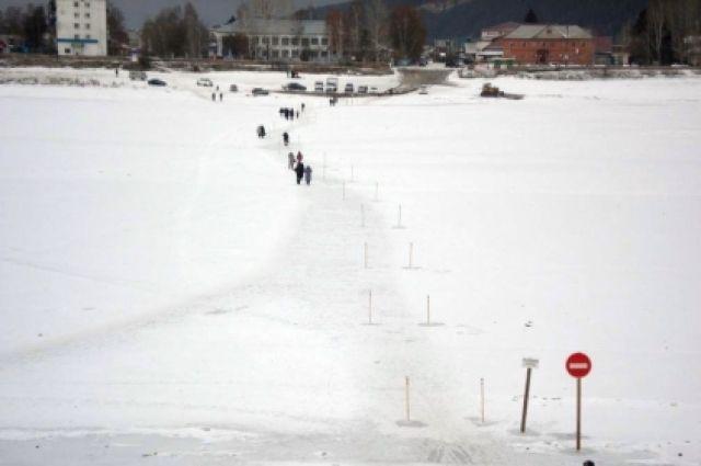 1-ый пеший ледовый переход открыт нареке Лене