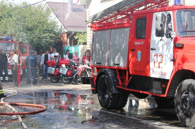 ВКраснодаре сгорела личная баня