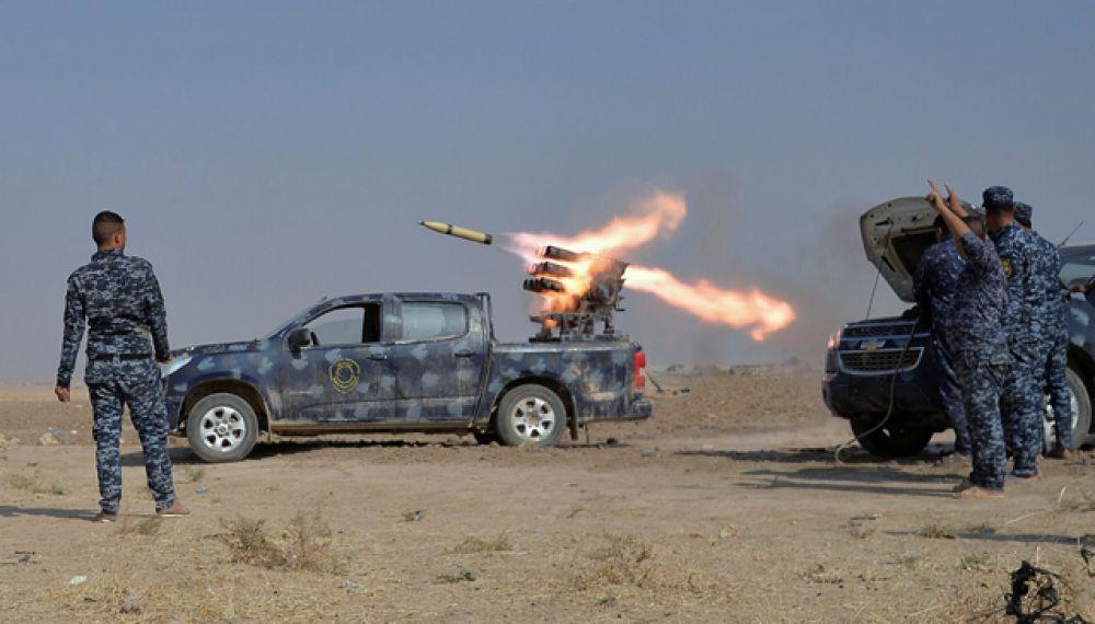 Международная коалиция расположена в 60 километров к югу от Мосула в городе Кайяра, который был освобождён от ИГИЛ летом.