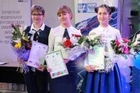 Лучшие почтальоны ЦФО Наталья Болдырева, Анна Тюдешева и Юлия Таникова.