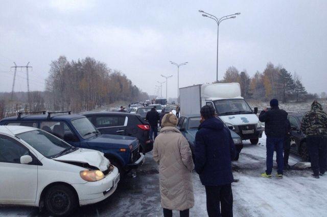 ДТП на подъезде к Зеленодольску утром 30 октября.