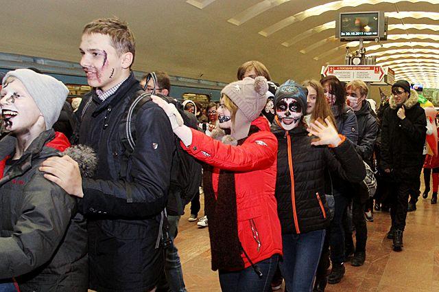Участники зомби-парада спустятся в подземку