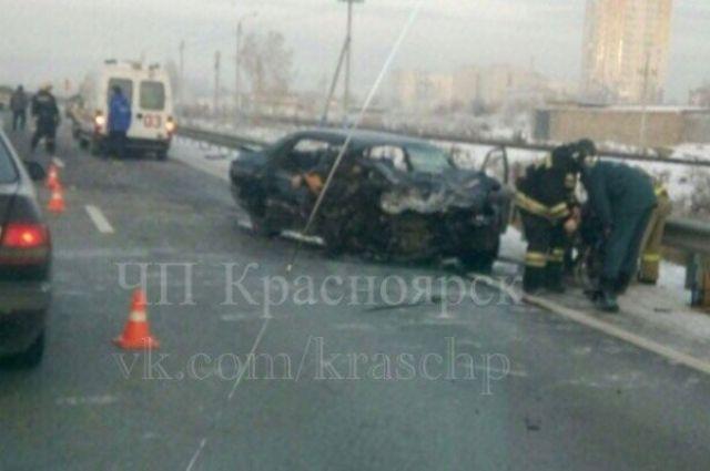 Натрассе под Сосновоборском вДТП навстречке умер шофёр