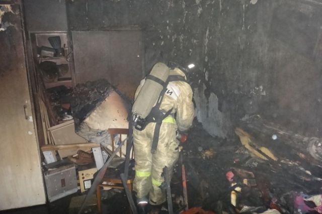 ВЧереповце при пожаре умер пенсионер