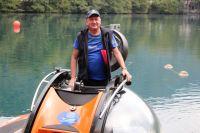 Николай Максимович во время недавней экспедиции на озере Церик-Кель (Кабардино-Балкария).