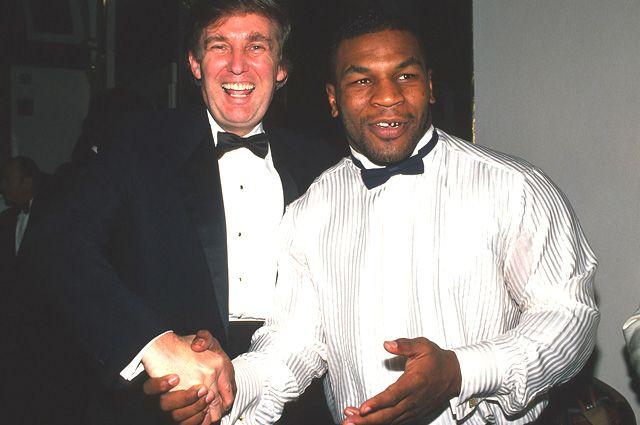 Дональд Трамп и Майк Тайсон.