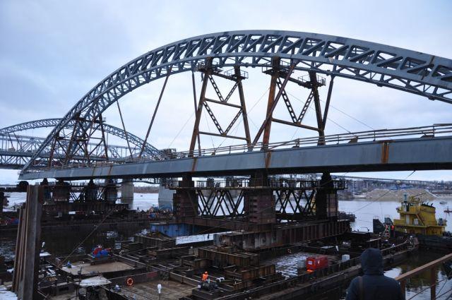 Дублер Борского моста 4ноября открыли для строительной техники