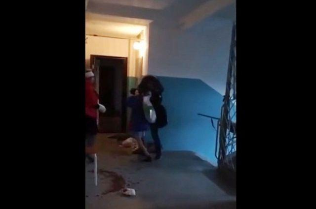 Вweb-сети появилось видео задержания школьницы, напавшей насемью вНовосибирске